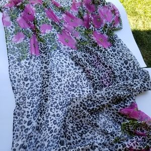 """Forever 21-Extra Large Animal Print scarf 74""""x47"""""""